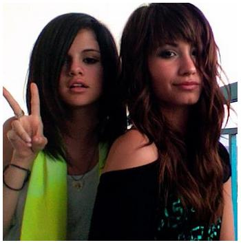 selena gomez and demi lovato and miley cyrus. Demi Lovato and Selena Gomez