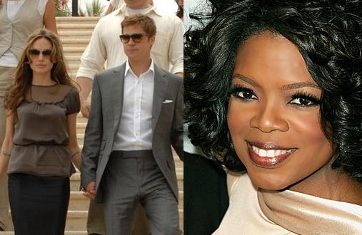 Brangelina and Oprah Winfrey