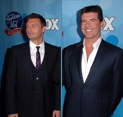 Ryan Seacrest and Simon Cowell