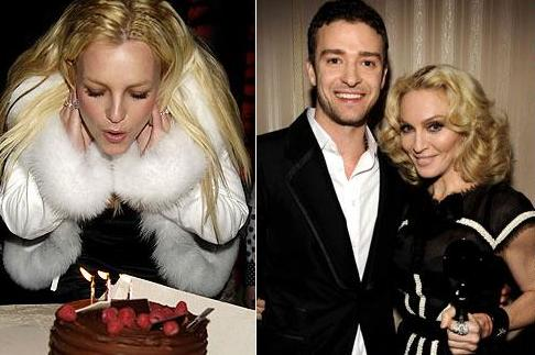 Britney Spears, Justin Timberlake And Madonna