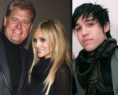 Joe Simpson, Ashlee Simpson And Pete Wentz