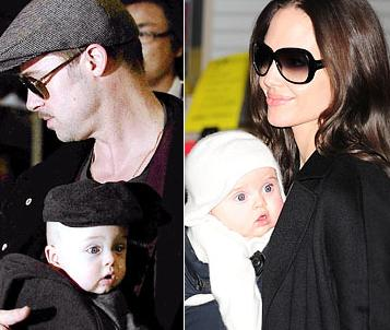 Brangelina With Knox And Viviene