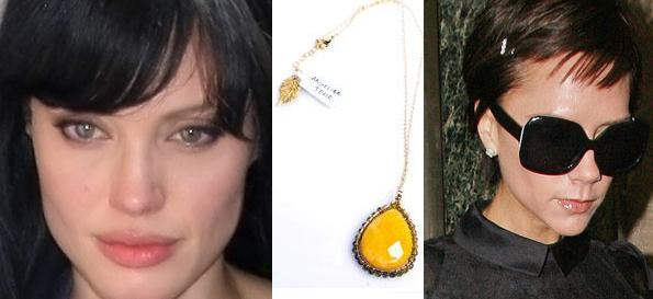 Angelina Jolie & Victoria Beckham Design Jewelry For Celebrity Auction