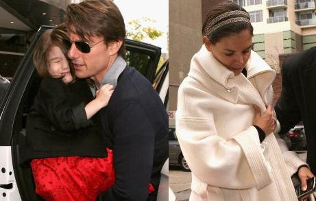 Tom Cruise, Suri and Katie Holmes