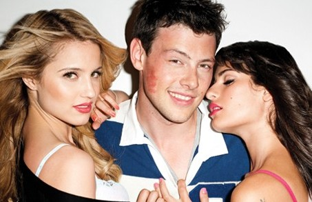 Dianna Agron, Cory Montieth and Lea Michele