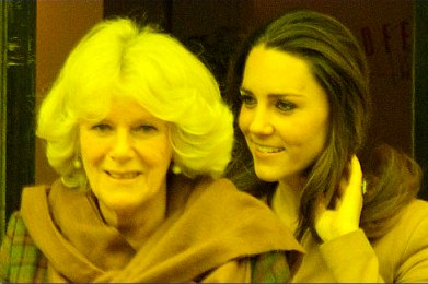Camilla Bowles-Parker and Kate Middleton
