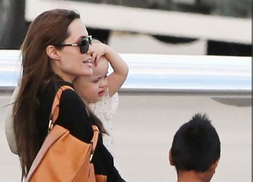 Angelina Jolie, Viviene and Maddox