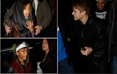 Willow, Jaden Smith and Justin Bieber