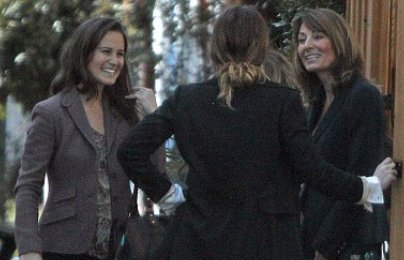 Pippa Middleton, Alice Temperley and Carole Middleton