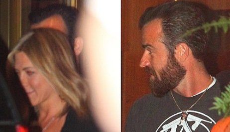 Jennifer Aniston And Justin Theroux, jennifer aniston hair, justin theroux
