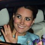 Duchess Kate Wears Powder Blue Dress While Visiting National Portrait Gallery