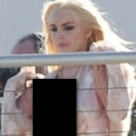 Lindsay Lohan's Wardrobe Malfunction In Miami