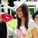 Pippa Middleton Wears Peach And Pink Colored Summer Dress At Royal Ascot