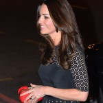 Duchess Kate Attends London SportsBall In A Black Templeton Dress