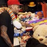 Chris Brown Is Having A Good Mood At A Christmas Charity Drive