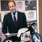 Prince William Gets A Mini Motorcycle For Prince George During A Surprise Visit To Motorcycle Live