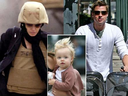 Angelina Jolie: G.I Joe Look, Brad Pitt With Shiloh