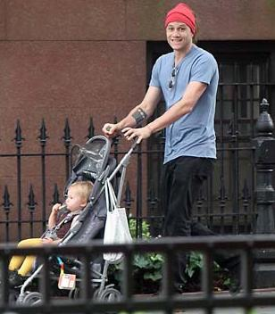 Heath Ledger With Daughter Matilda