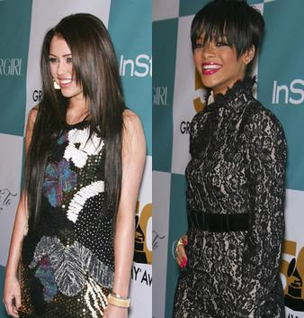 "Miley Cyrus and Rihanna: Grammy ""Salute to Fashion"""