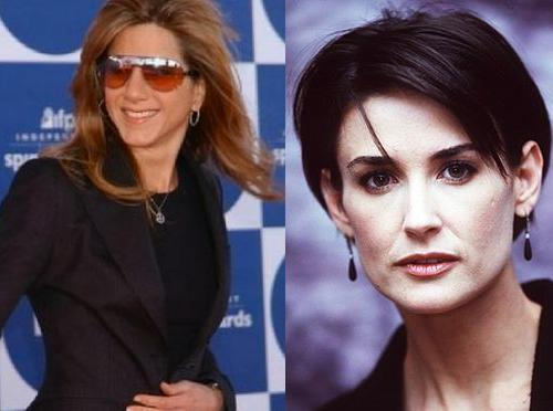 Jennifer Aniston, Demi Moore