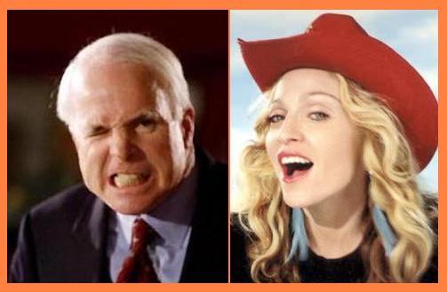 John McCain, Madonna