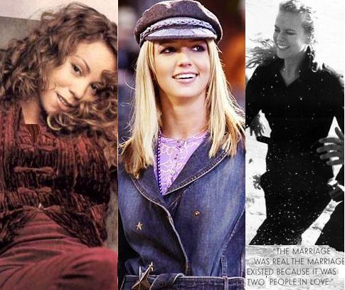 Mariah Carey, Britney Spears, Nicole Kidman