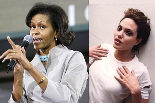 Michelle Obama, Angelina Jolie