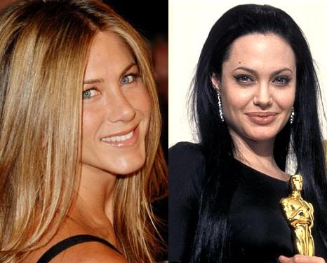 Jennifer Aniston and Angelina Jolie