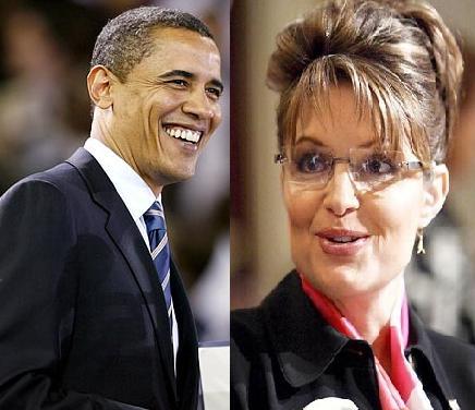 Barack Obama, Sarah Palin