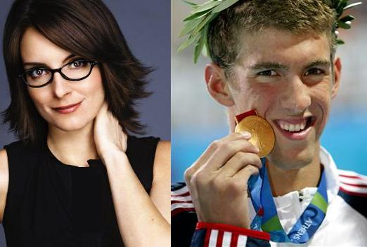 Tina Fey And Michael Phelps