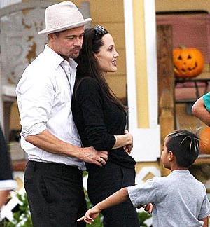 Brad Pitt, Angelina Jolie and Maddox