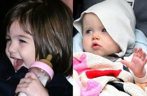 Suri Cruise And Shiloh Pitt