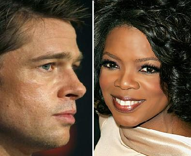 Brad Pitt And Oprah Winfrey