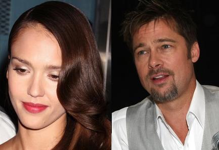 Jessica Alba & Brad Pitt