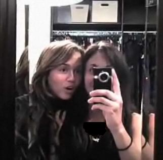 Miley Cyrus and Mandy Jiroux