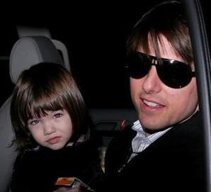 Suri Cruise and Tom Cruise