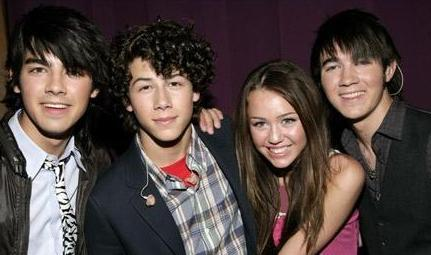 Jonas Brothers and Miley Cyrus