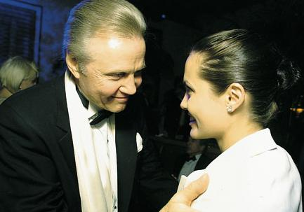 Jon Voight and Angelina Jolie