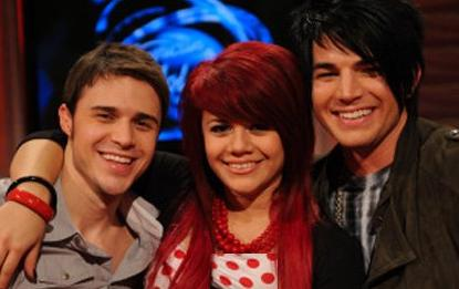 Kris Allen, Allison Iraheta and Adam Lambert