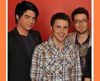 Adam Lambert, Kris Allen and Danny Gokey