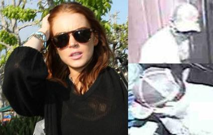 Lindsay Lohan (left), the suspects (right)
