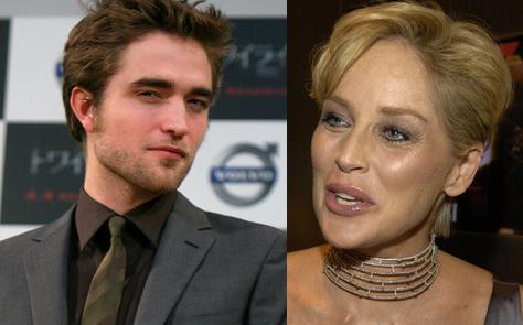 Robert Pattinson & Sharon Stone