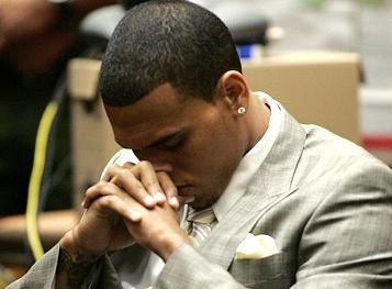 Chris Brown during the hearing