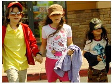 Michael Jackson's Kids (Prince Michael, now 12; Paris, 11; and Blanket, 7)