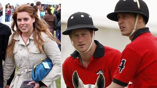 Princess Beatrice, Princes Harry & William