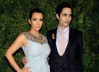Kim Kardashian and Zac Posen