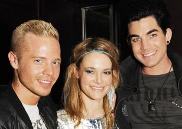 Sauli Koskinen, Leisha Hailey and Adam Lambert