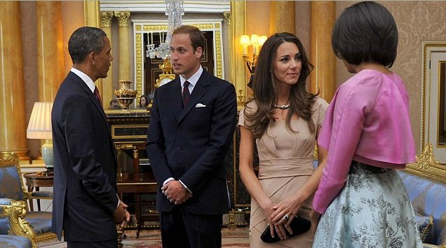 Barack Obama, Prince William, Kate Middleton and Michelle Obama