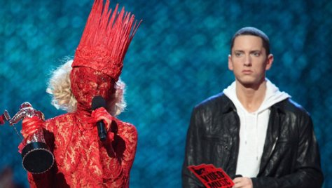 eminem on lady gaga, lady gaga eminem, eminem and lady gaga