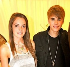 Payton Wall and Justin Bieber